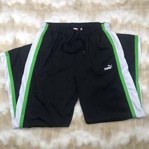 Black track workout athletic pants Puma XL